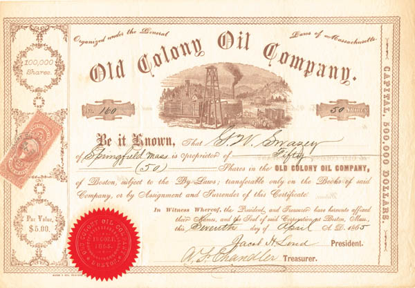 Old Colony Oil Company - Stock Certificate