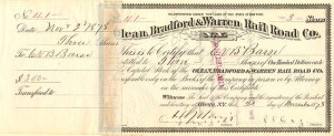 Olean, Bradford & Warren Rail Road Co.
