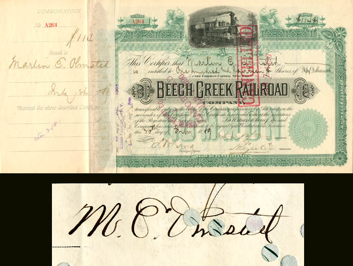 Beech Creek signed by Marlin E. Olmsted