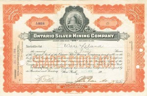 Ontario Silver Mining Company - SOLD