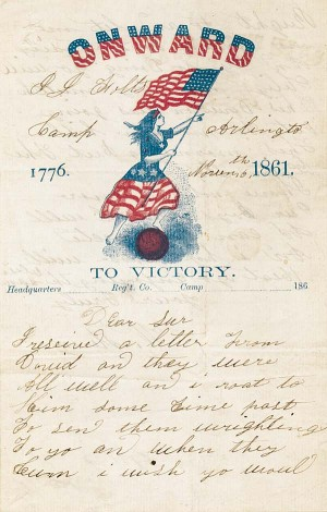 Onward to Victory 1776-1861 Stationery - SOLD