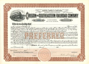 Oregon and Southeastern Railroad Company