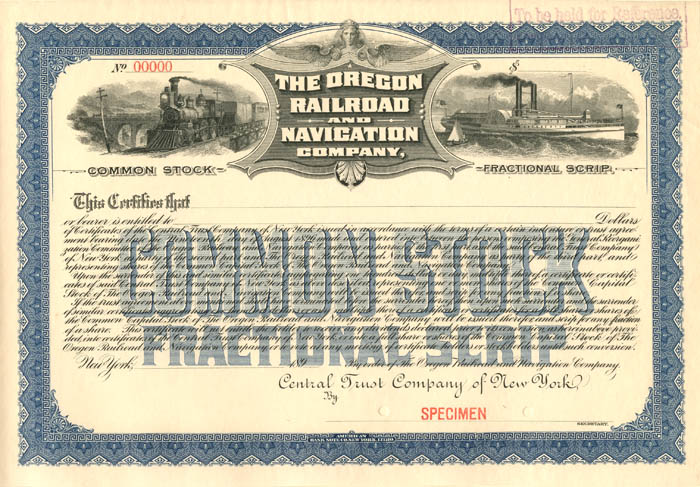 Oregon Railroad and Navigation Company - SOLD