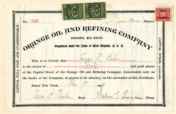 Orange Oil and Refining Company