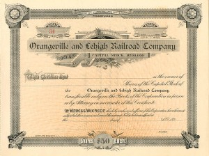 Orangeville and Lehigh Railroad Company