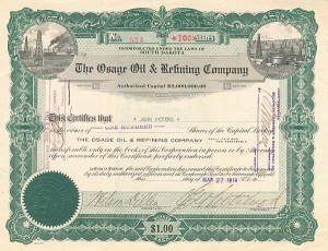 Osage Oil & Refining Company - SOLD