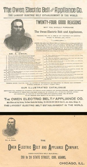 Owen Electric Belt and Applicance Co. - SOLD