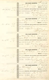 Mohawk and Hudson Rail Road Company signed by Peter Augustus Jay