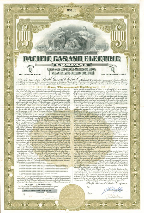 Pacific Gas & Electric Co - Bond - SOLD