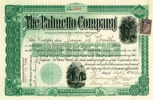 Palmetto Co - Stock Certificate