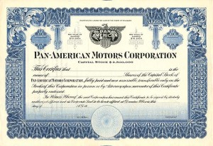 Pan-American Motors Corporation - SOLD