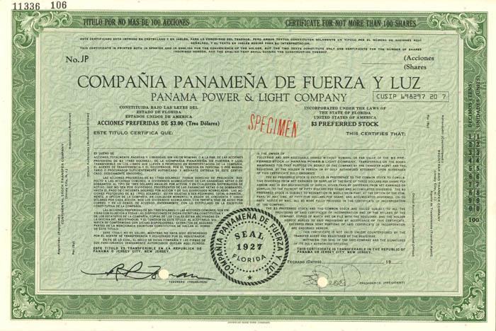 Compania Panamena De Fuerza Y Luz