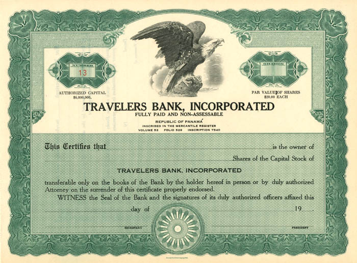 Travelers Bank, Incorporated