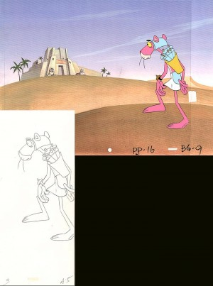 Pink Panther in the Desert