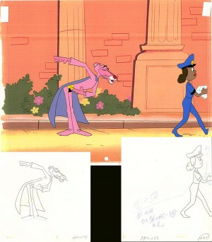 Pink Panther and Lady in Blue