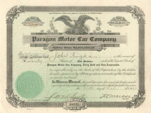 Paragon Motor Car Company - SOLD