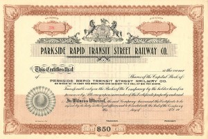 Parkside Rapid Transit Street Railway Co.