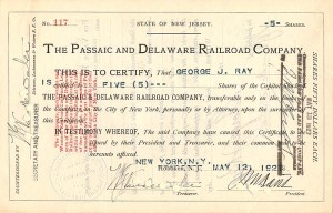 Passaic and Delaware Railroad Company - SOLD