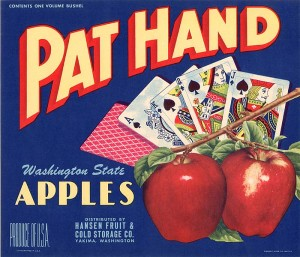 Fruit Crate Label - Pat Hand
