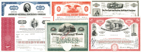 """Patriotic"" Stock & Bond Collection"