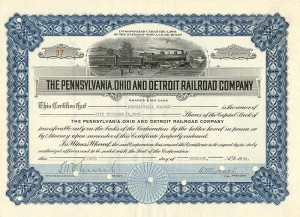 Pennsylvania, Ohio and Detroit Railroad Company - SOLD