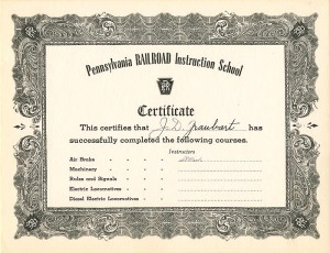 Pennsylvania Railroad Instruction School