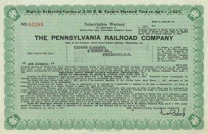 Pennsylvania Railroad Company - $100 Bond