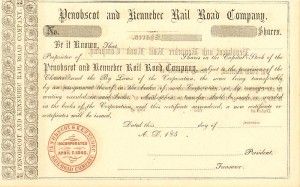 Penobscot and Kennebec Rail Road Company