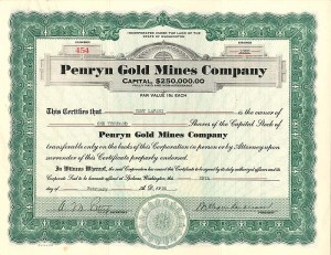 Penryn Gold Mines Company