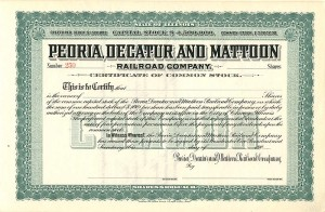 Peoria, Decatur and Mattoon Railroad Company