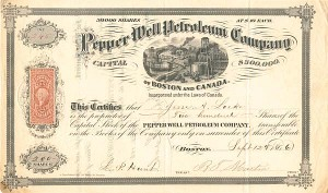 Pepper Well Petroleum Company - Stock Certificate