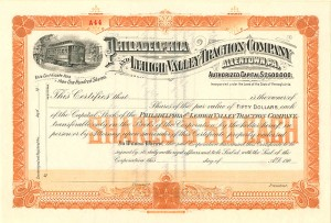 Philadelphia and Lehigh Valley Traction Company - SOLD