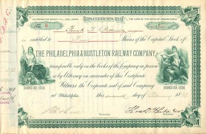 Philadelphia & Bustleton Railway Company - SOLD