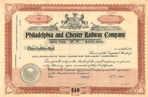 Philadelphia and Chester Railway Company - SOLD