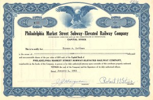Philadelphia Market Street Subway - Elevated Railway Company