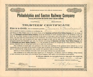 Philadelphia and Easton Railway Company