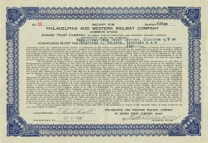 Philadelphia and Western Railway Company - SOLD
