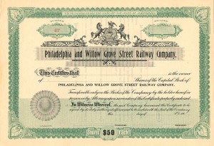 Philadelphia and Willow Grove Street Railway Company