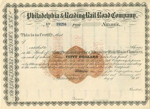 Philadelphia & Reading Railroad Company - SOLD