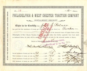 Philadelphia & West Chester Traction Company - SOLD
