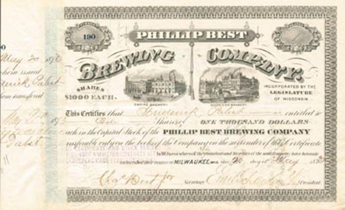Charles Best & Frederick Pabst - Philip Best Brewing Company