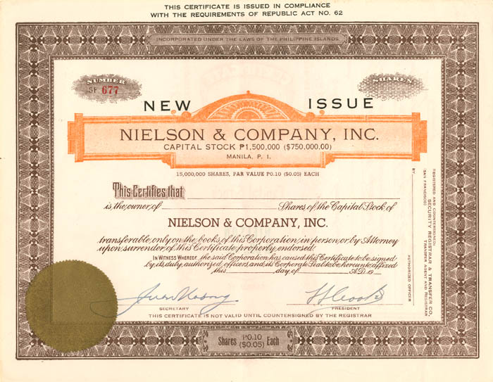 Nielson and Company, Inc.