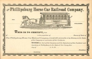 Phillipsburg Horse Car Railroad Company