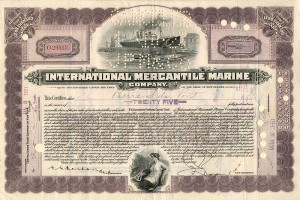 International Mercantile Marine Company signed by Pierre S. DuPont