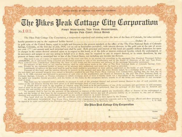 Pikes Peak Cottage City Corporation
