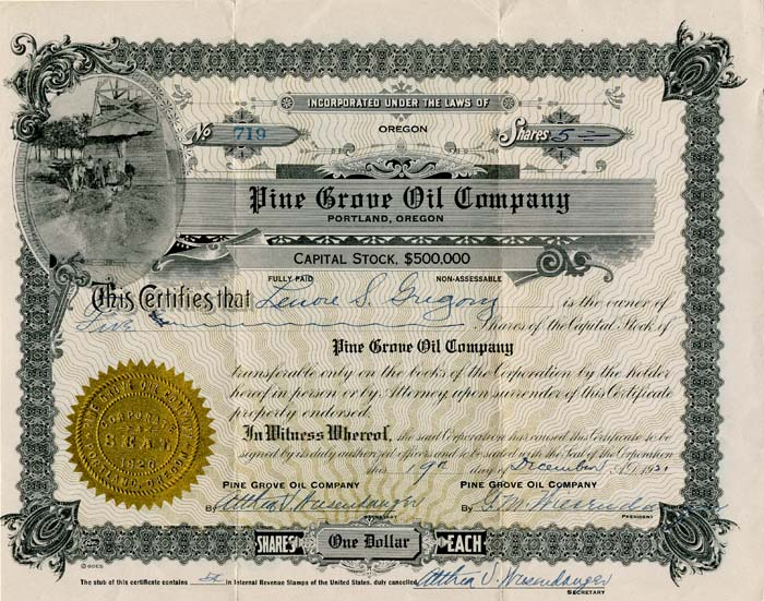 Pine Grove Oil Company - SOLD