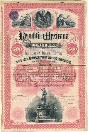 """Christopher Columbus"" 1885 - Republica Mexicana - PRICE ON REQUEST"