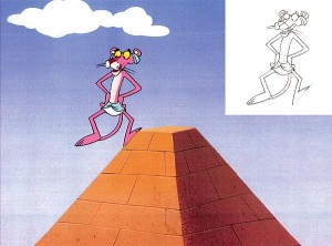Pink Panther on Pyramid