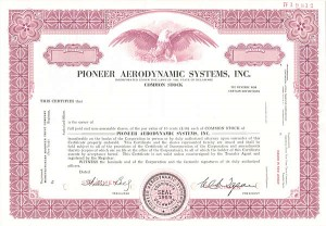 Pioneer Aerodynamic Systems, Inc.