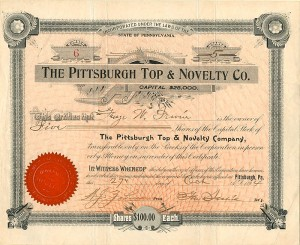 Pittsburgh Top & Novelty Co. - SOLD